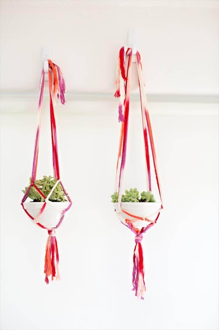 how to make macrame plant hangers