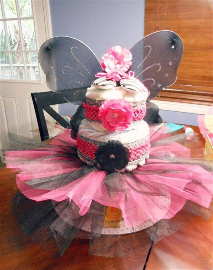 DIY fairy tutu diaper cake