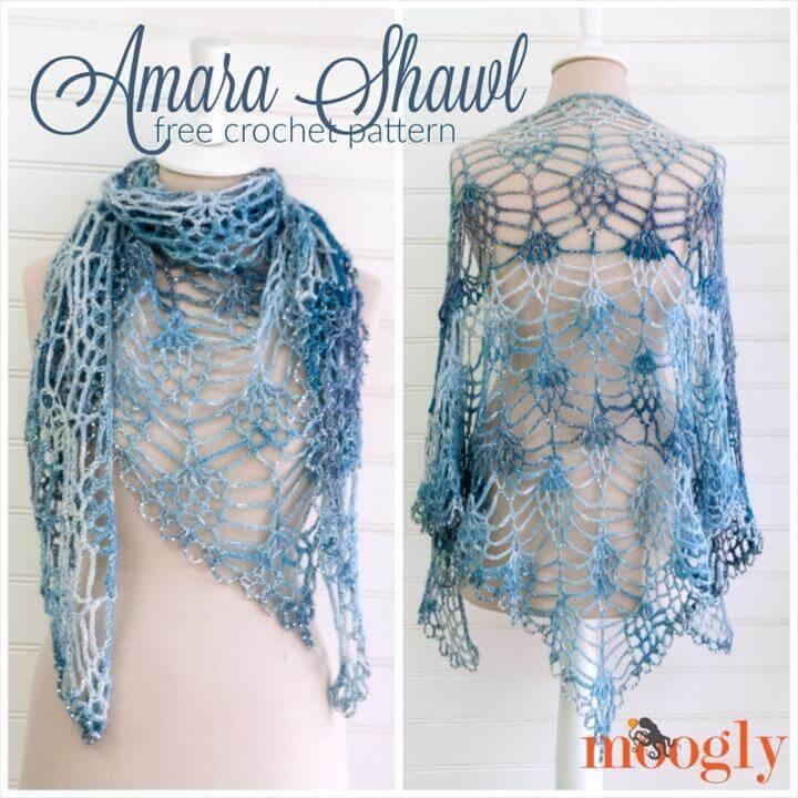 fancy crochet amara shawl