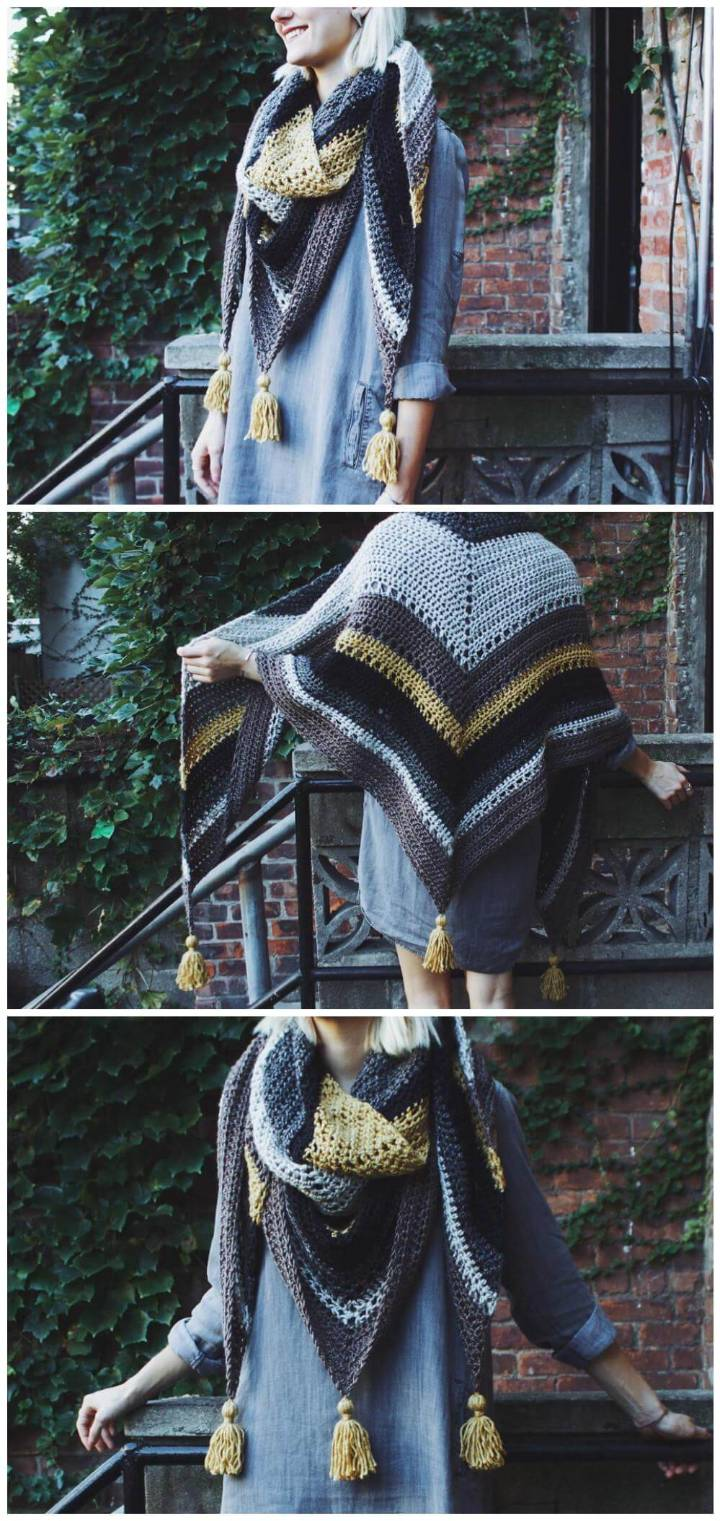 easy crochet tea house wrap