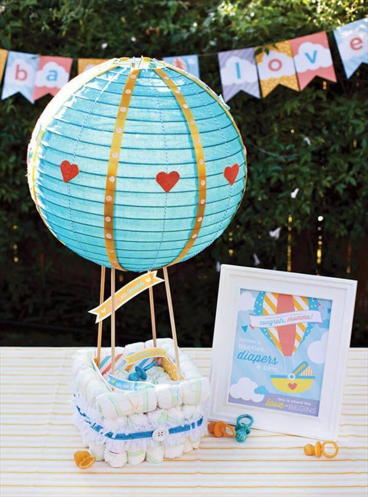 How To Make A Hot Air Balloon Diaper Cake