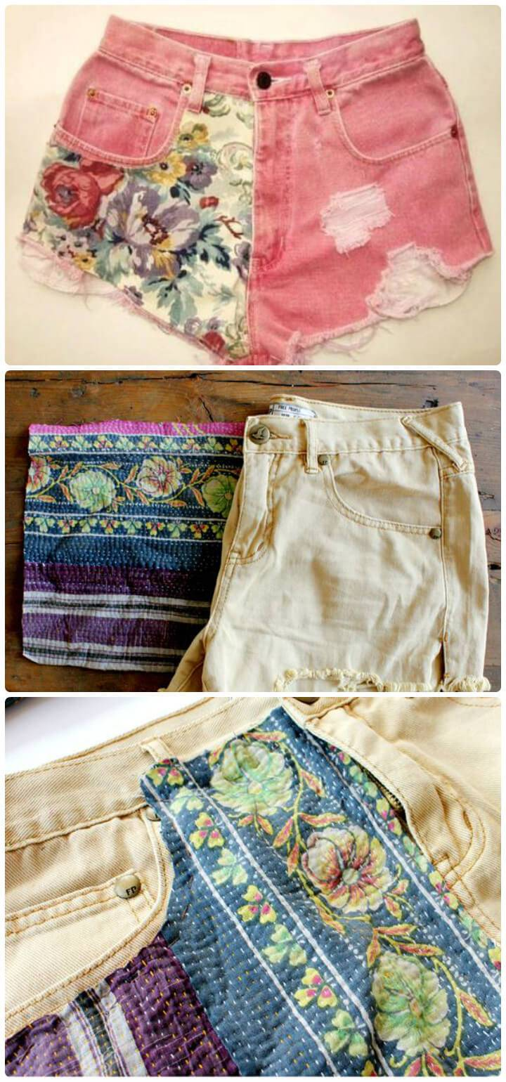customized DIY summer shorts