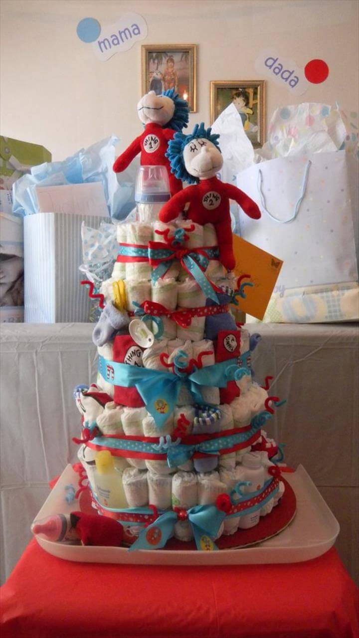 How To Make A Diaper Cake With Cloth Diapers