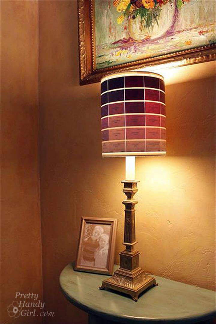 beautiful paint chip lampshade