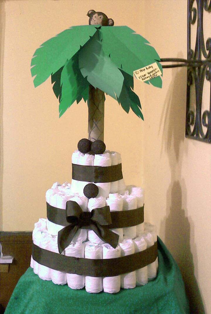 82 Diaper Cake Ideas That Are Easy to Make - DIY & Crafts