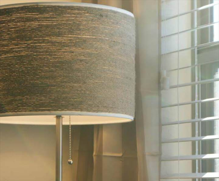 DIY twine wrapped lampshade