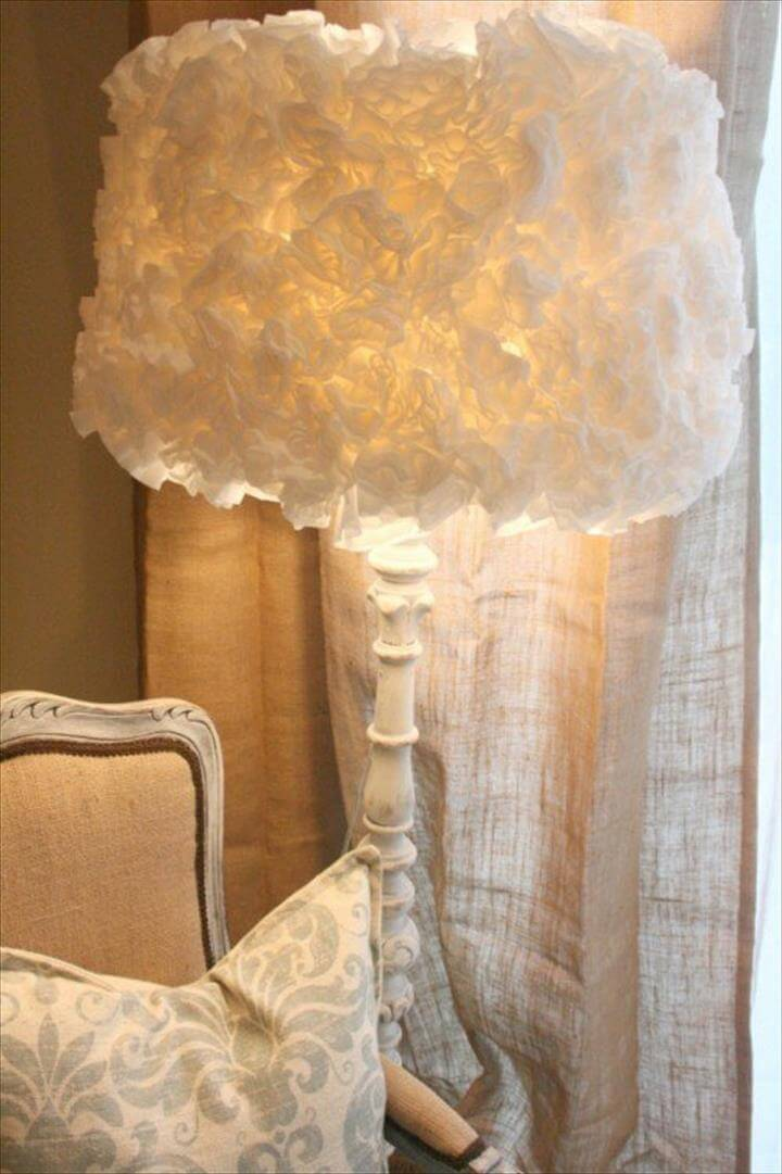cozy coffee filter lampshade