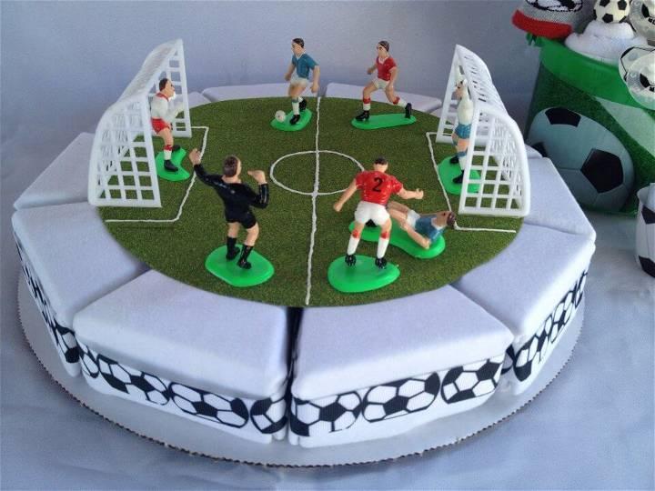 beautiful soccer onesie cake