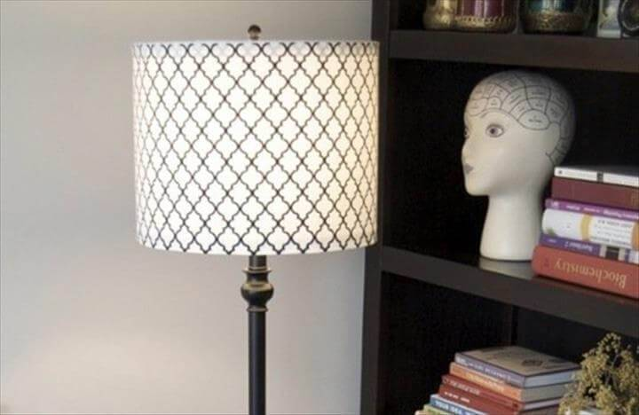 tapered lampshade into drum lampshade