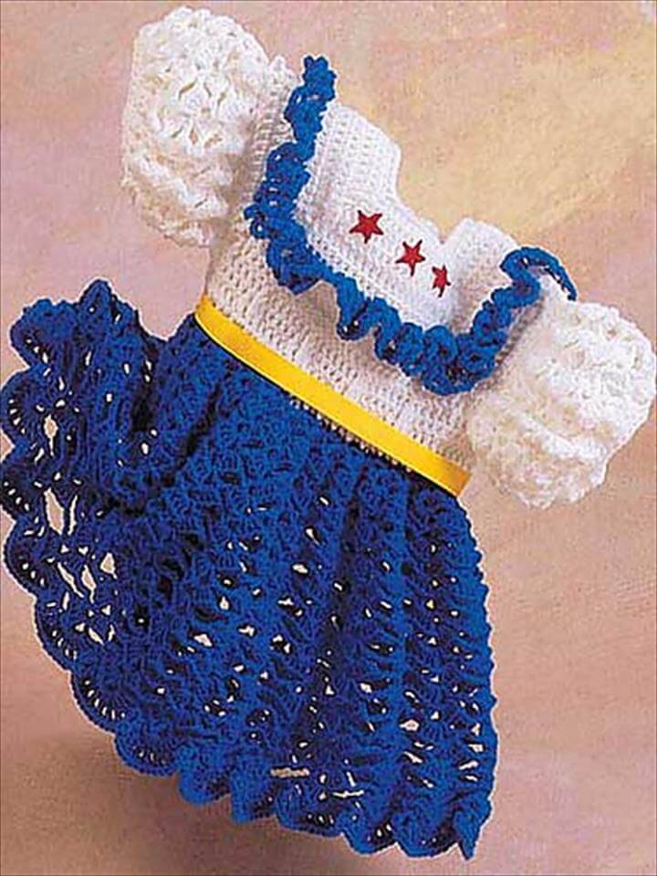 easy crochet baby dress pattern