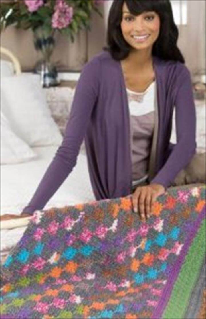 Amish multicolored baby blanket pattern