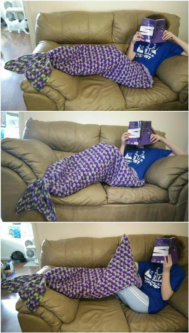 22 free crochet mermaid tail blanket patterns diy crafts adult sized mermaid lapghan free crochet pattern bankloansurffo Choice Image