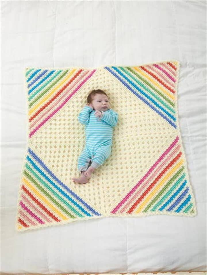 crochet baby square afghan pattern
