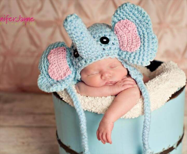 adorable baby crochet elephant hat