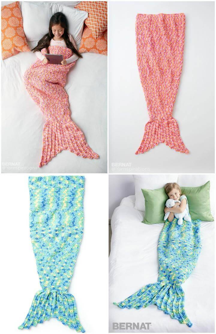 free crochet mermaid snuggle sack