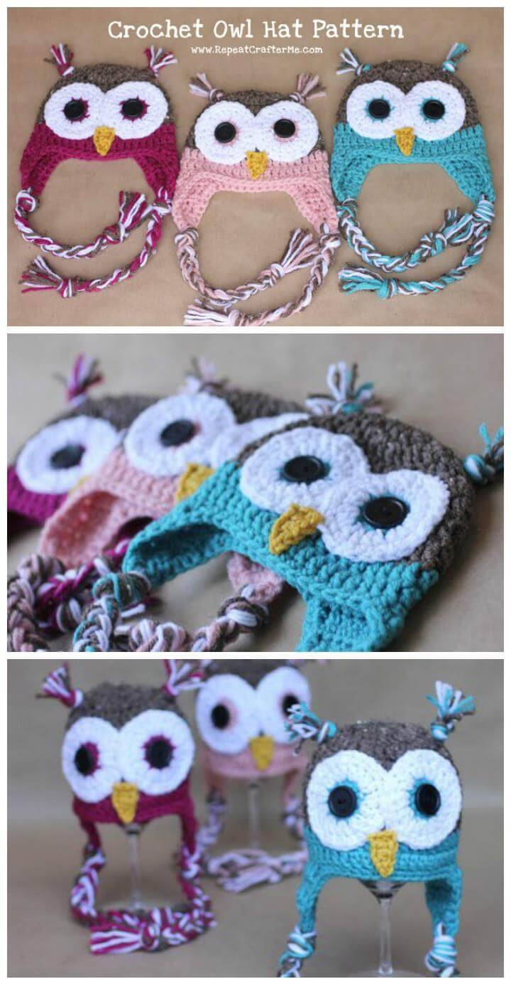 easy crochet owl baby hat pattern