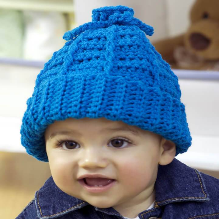 awesome baby blue crochet hat