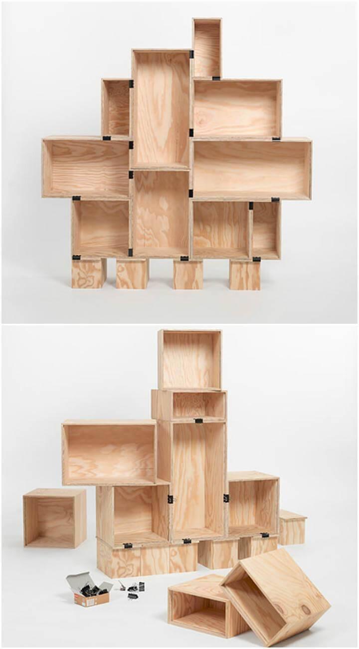 quick-to-install DIY bookshelf