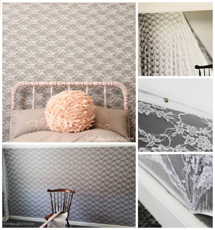 self-installed lace wall