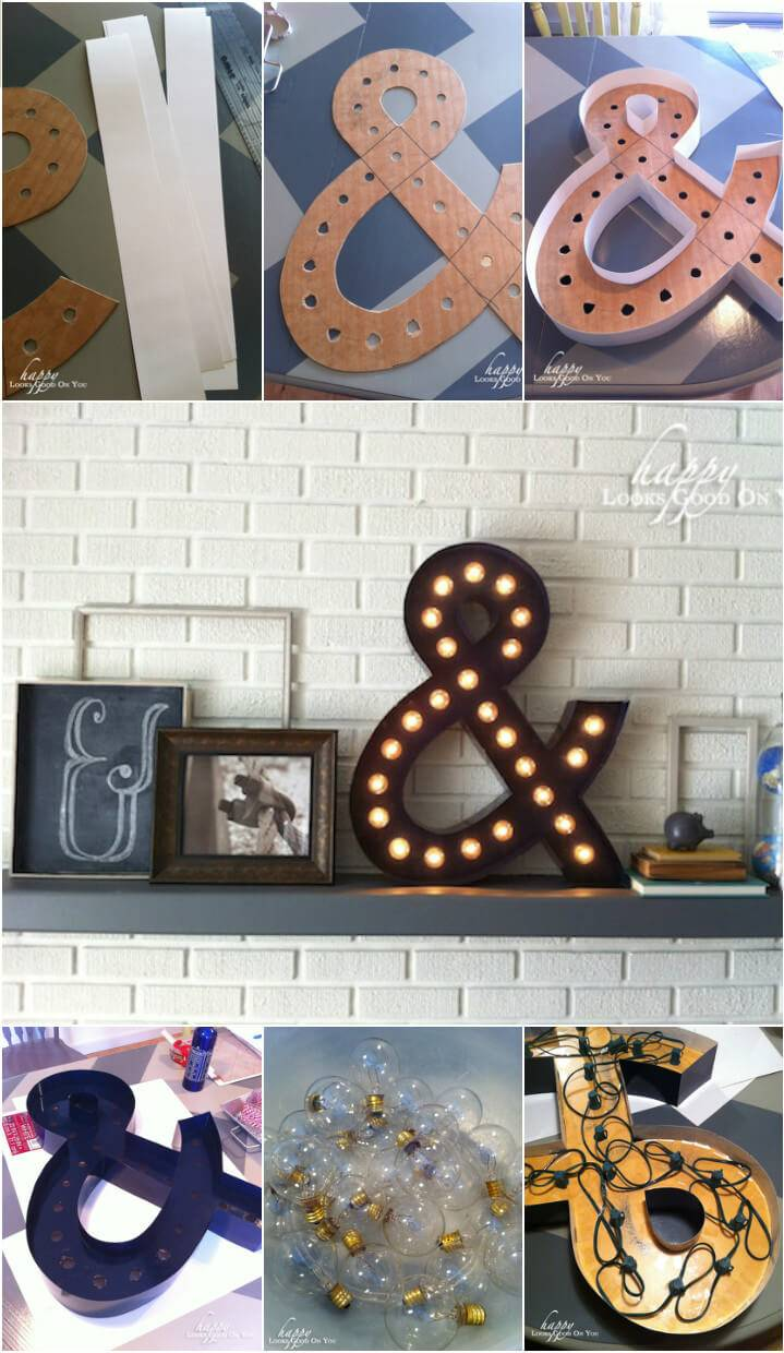handcrafted ampersand marquee light