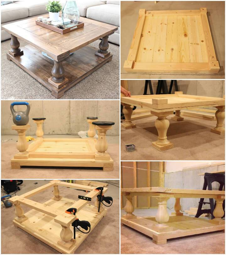 self-installed balustrade coffee table