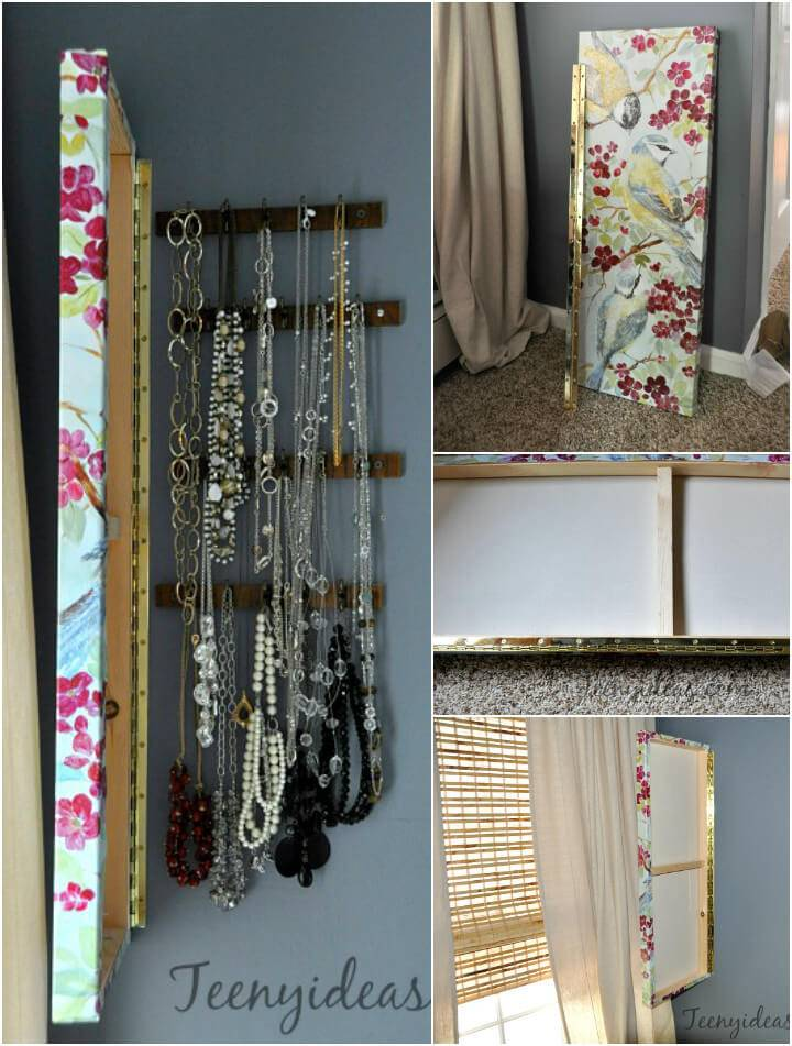 self-installed wall hanging jewelry organizer