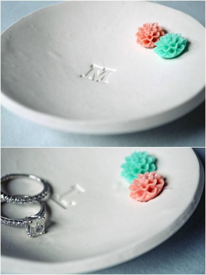 self-made ring dish