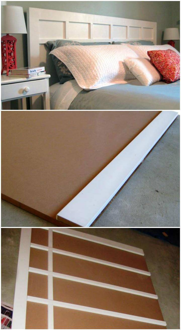homemade cottage style headboard