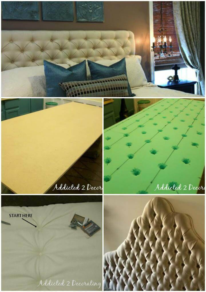 king diamond tufted headboard