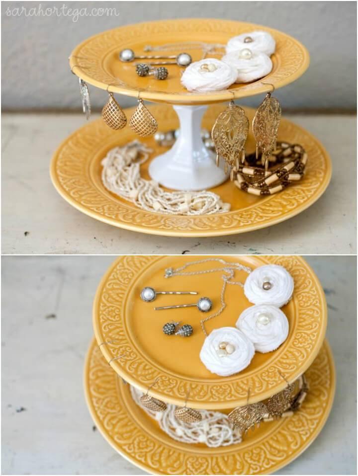 dishes into precious jewelry organizer