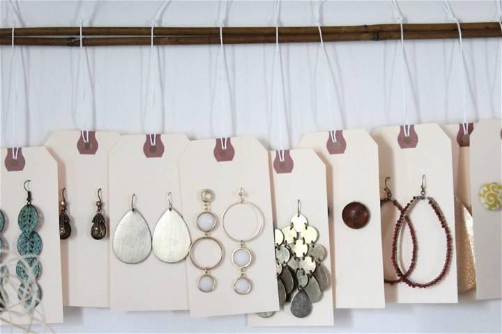 diy earring storage idea