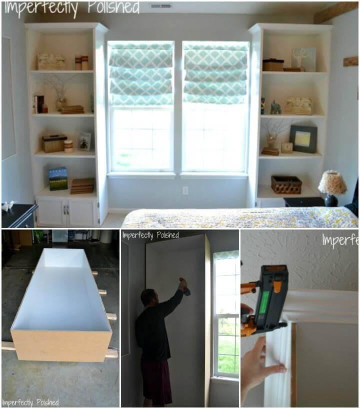self-installed built-in bookshelf