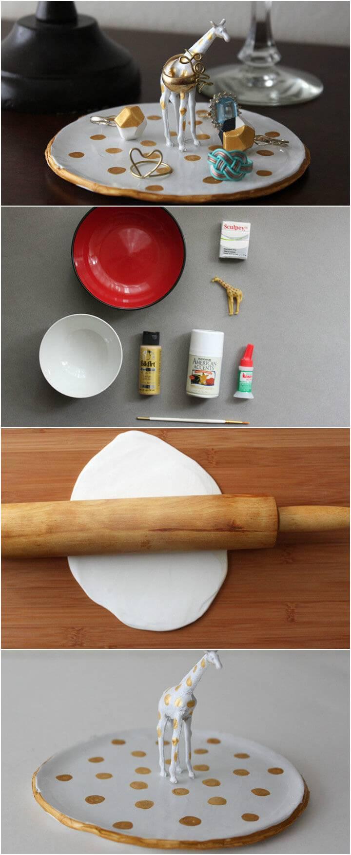 extra stunning DIY giraffe ring dish