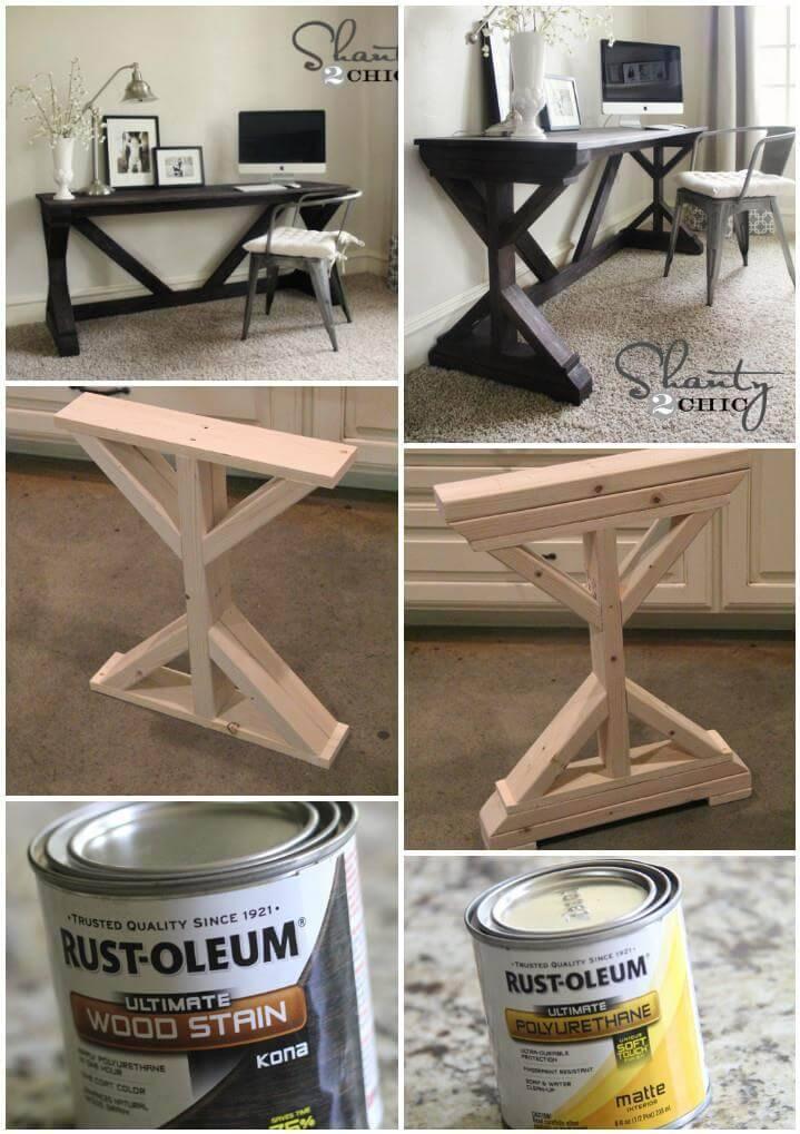 hand-built farmhouse desk