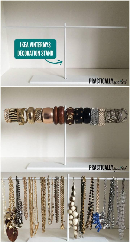 cool ikea hack jewelry display and organizer