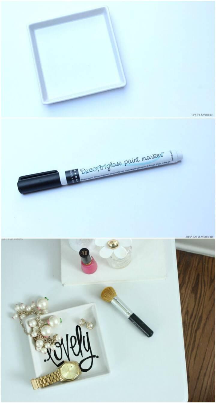 DIY lovely jewelry tray