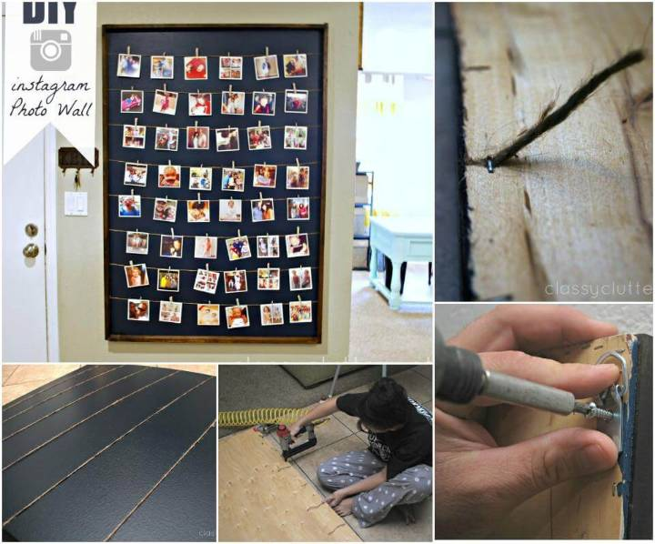 Instagram style photo wall display