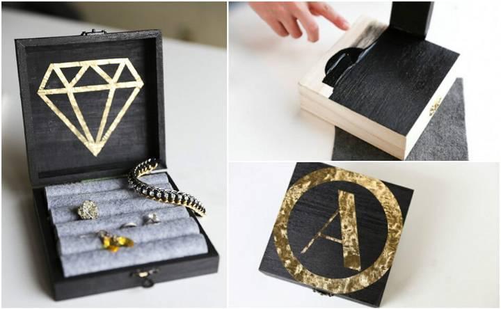 self-made modern jewelry box