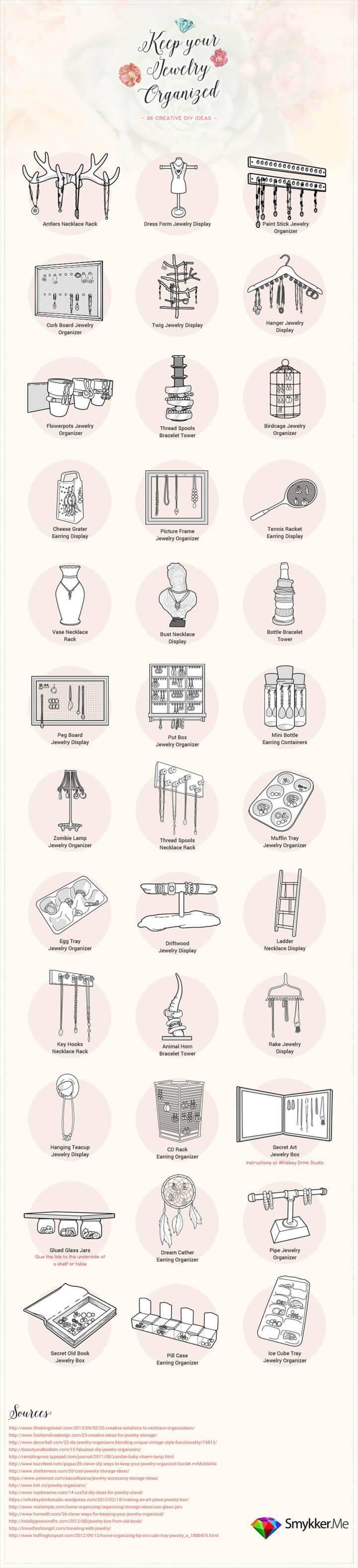 Ultimate DIY Jewelry Organizers