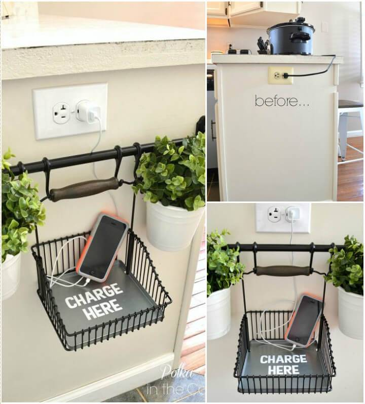 self-installed mobile charging station for kitchen