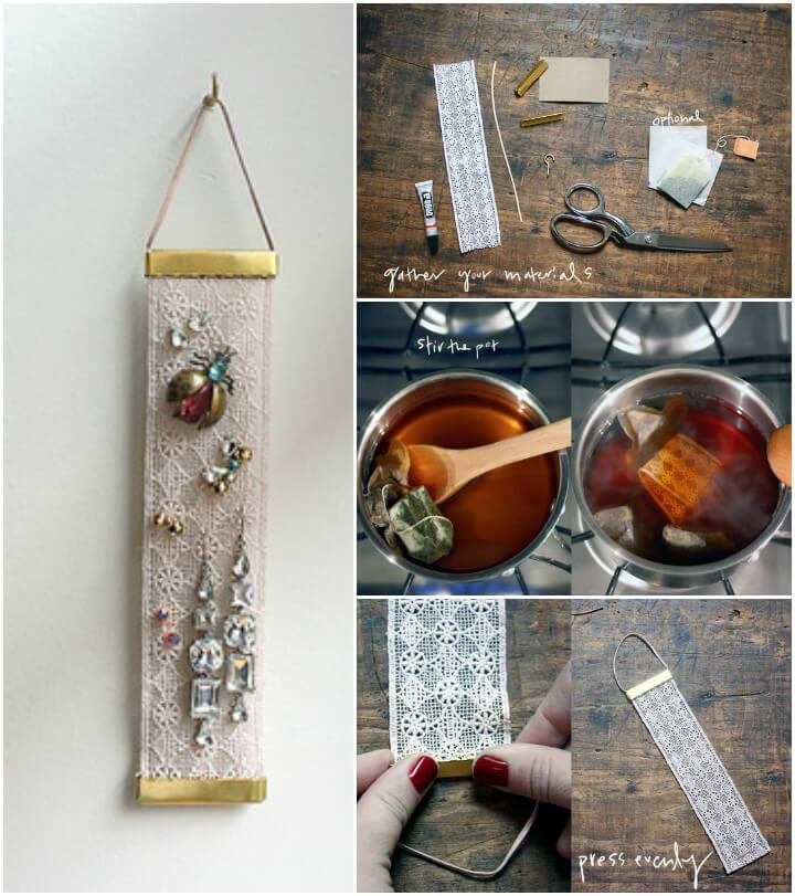 simple yet creative lace earring holder