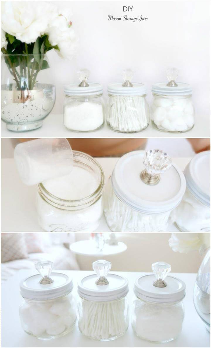 Old Mason Jars into Cool Storage Jars