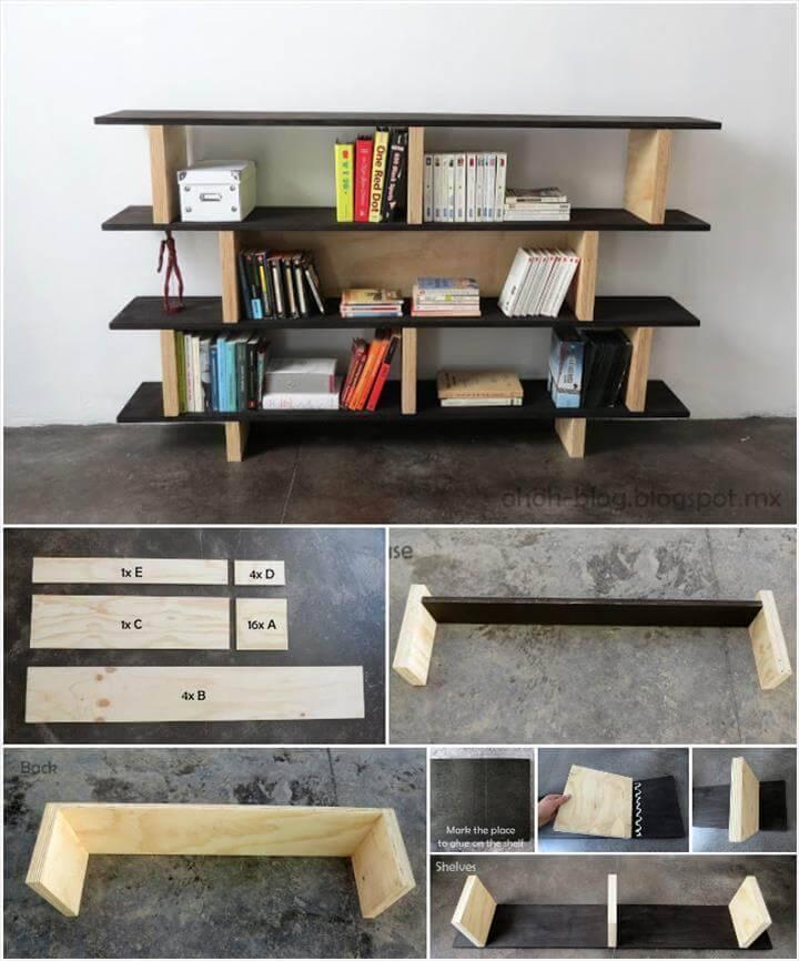 self-installed modern bookcase
