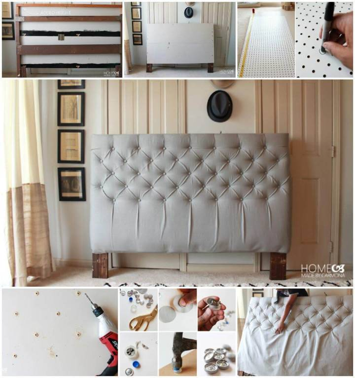 50 diy furniture projects with step by step plans diy for Self made headboards