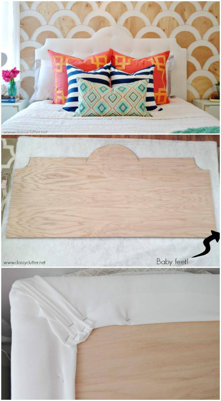 DIY modern tufted headboard