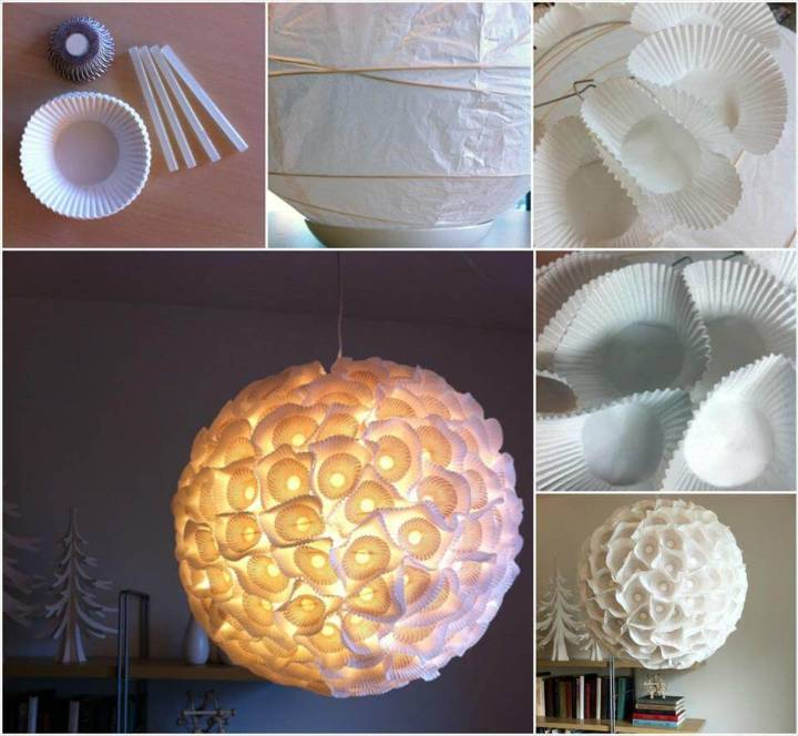 handmade paper orb light
