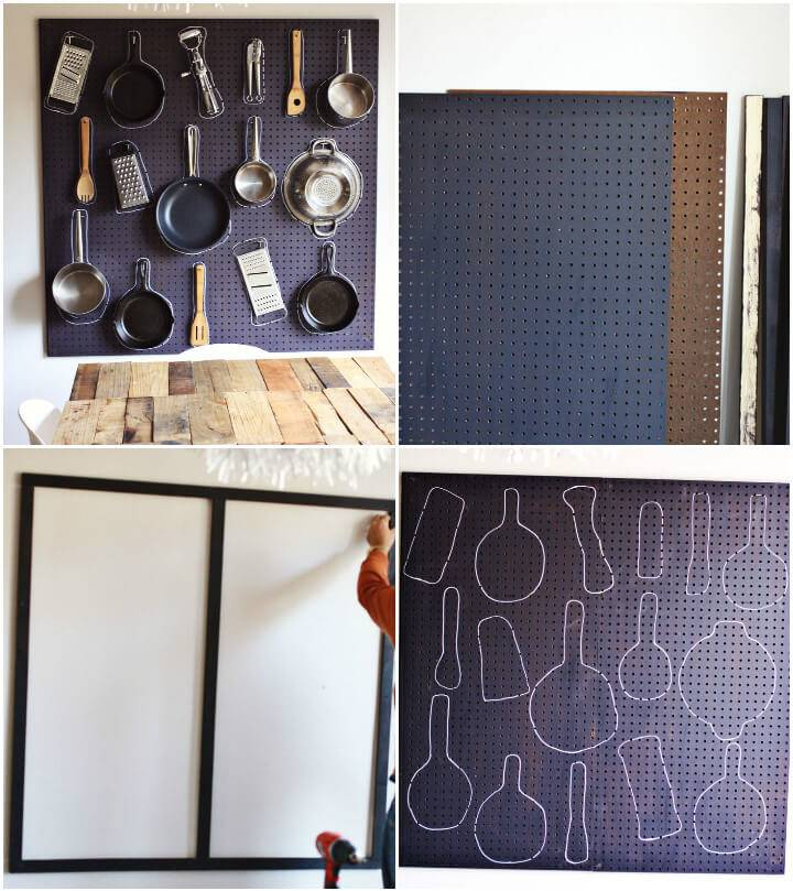 pegboard into kitchen tool organizer