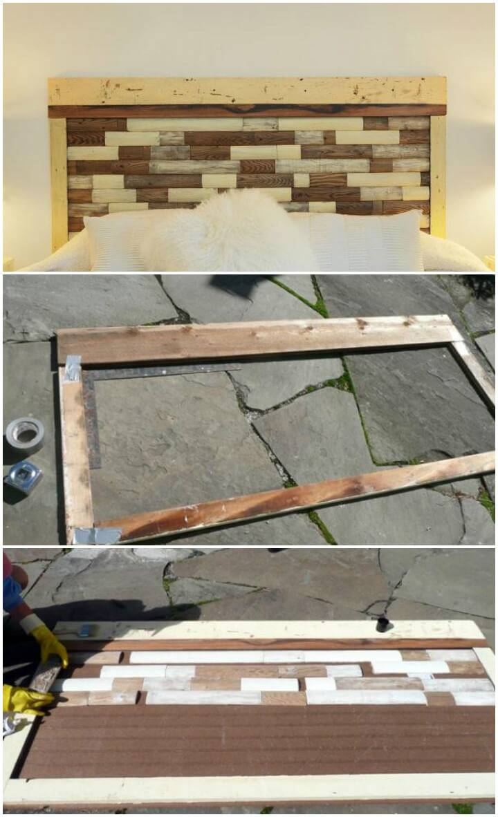 reclaimed picket fence headboard