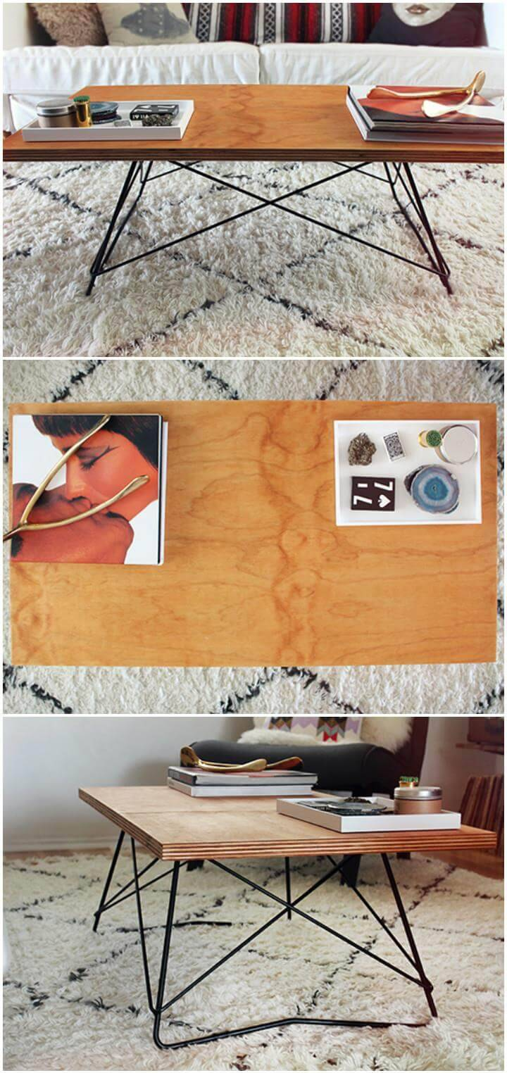 homemade plywood coffee table