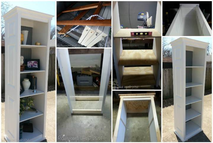 bookshelf made of a bi-fold door